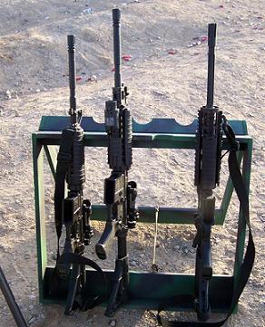 Desert mando A Frame Portable Rifle Rack